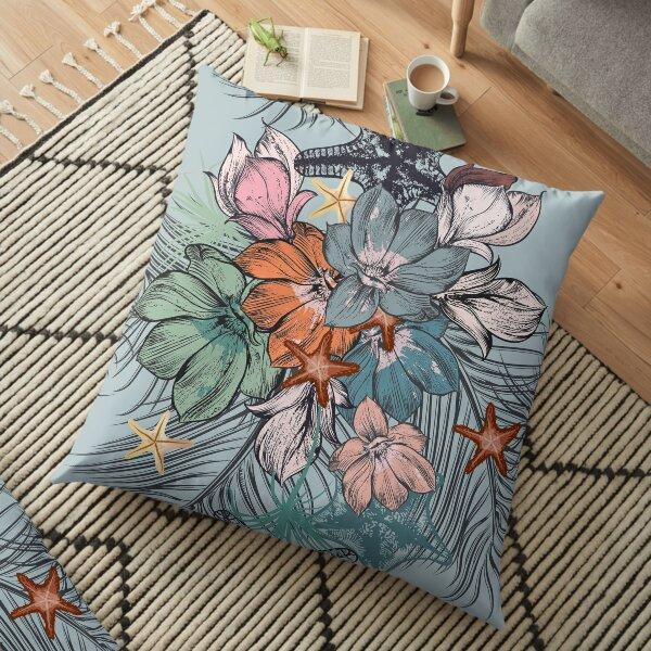 Flowers Pattern Floor Pillow