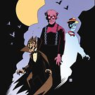 Mike Mignola style Count Chocula, Franken Berry, and Boo-Berry by TS Rogers