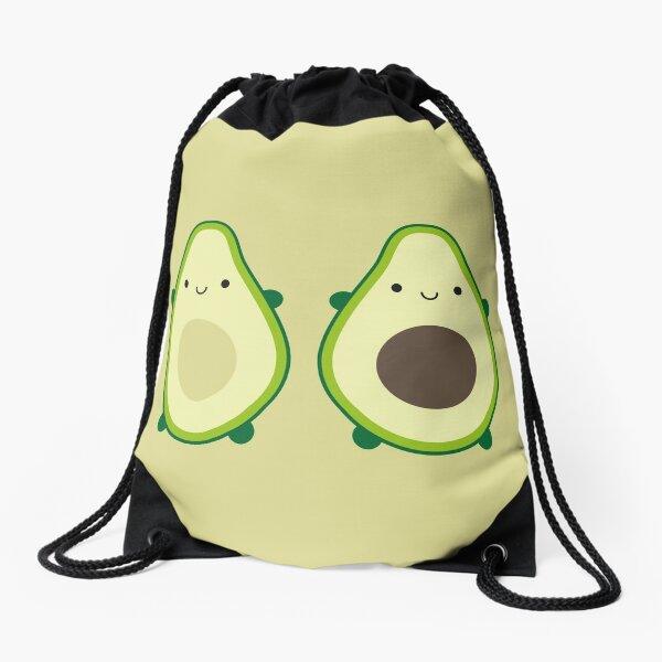 Kawaii Avocados Drawstring Bag