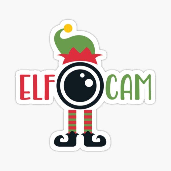 Christmas Elf capture's Hoodie Sticker