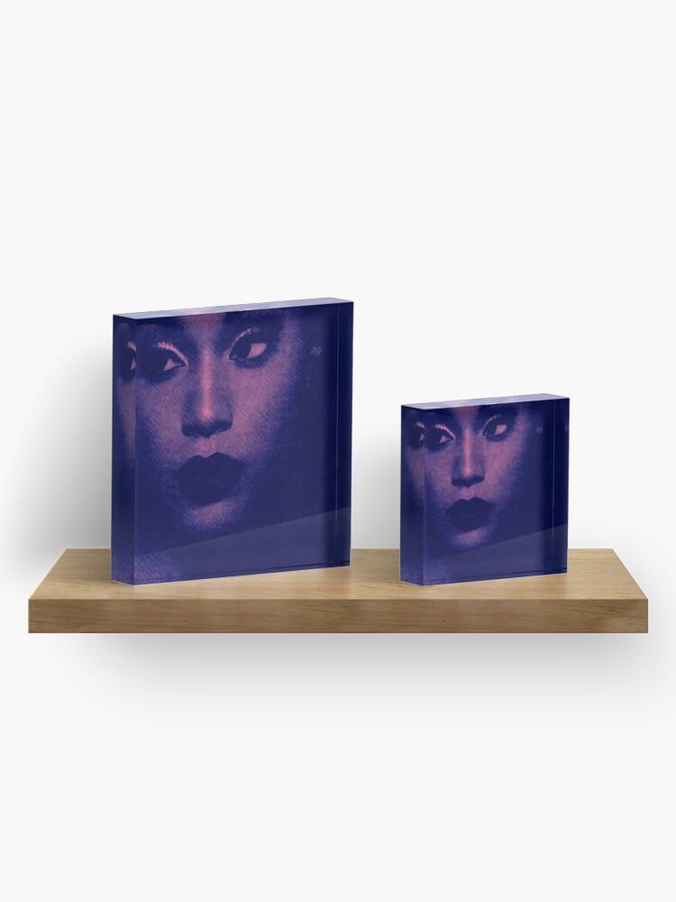 Alternate view of Lady Blues Acrylic Block