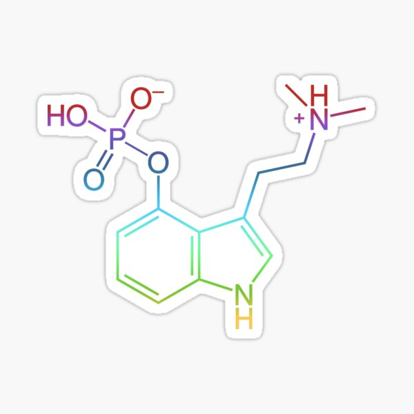 PSILOCYBIN MOLECULE PSILOCIN Sticker