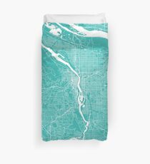 Portland map turquoise Duvet Cover