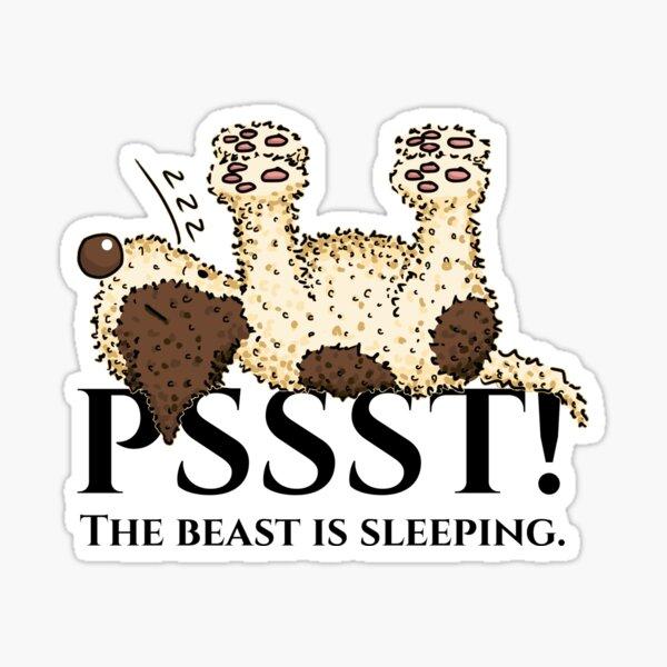 sleeping Lagotto Sticker