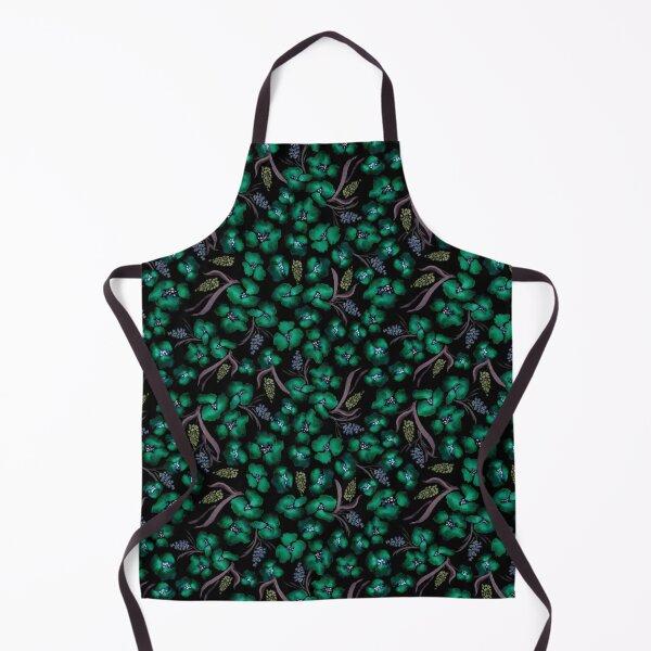 Dark watercolor floral seamless pattern Apron