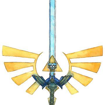 Master Sword - Triforce Of Courage by JokersToxin