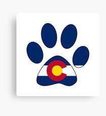 Colorado flag paw print Canvas Print