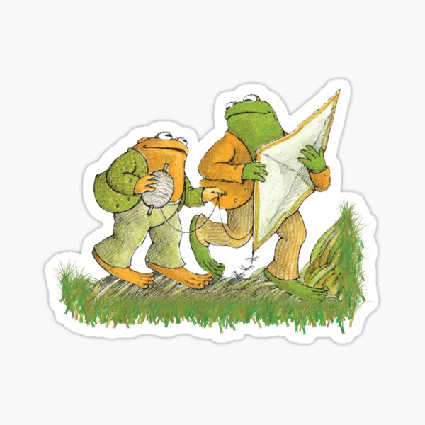 Frog and Toad are friends Sticker