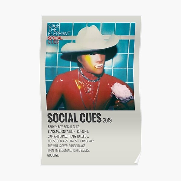 cage the elephant social cues album  Poster