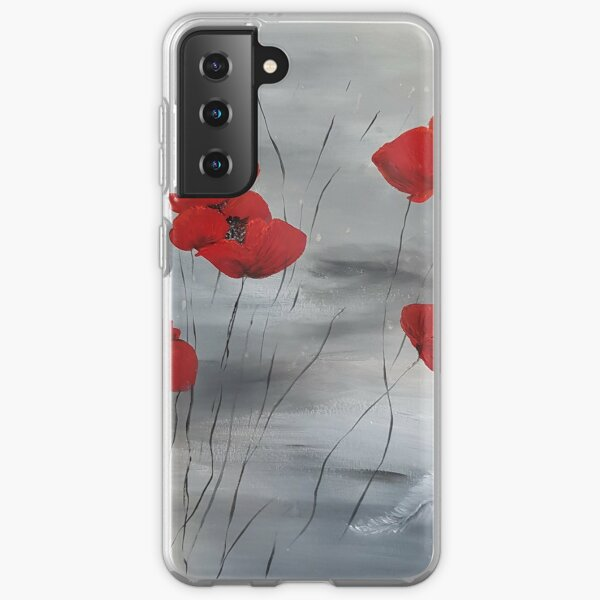 Poppies for a Friend Samsung Galaxy Soft Case
