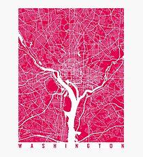 Washington map Raspberry Photographic Print