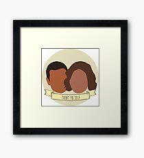 """Treat Yo Self"" - Tom Haverford, Donna Meagle Framed Print"