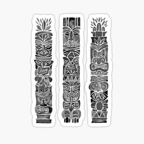 Tiki Totem – Black Sticker