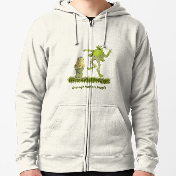 Frog and toad forever Zipped Hoodie
