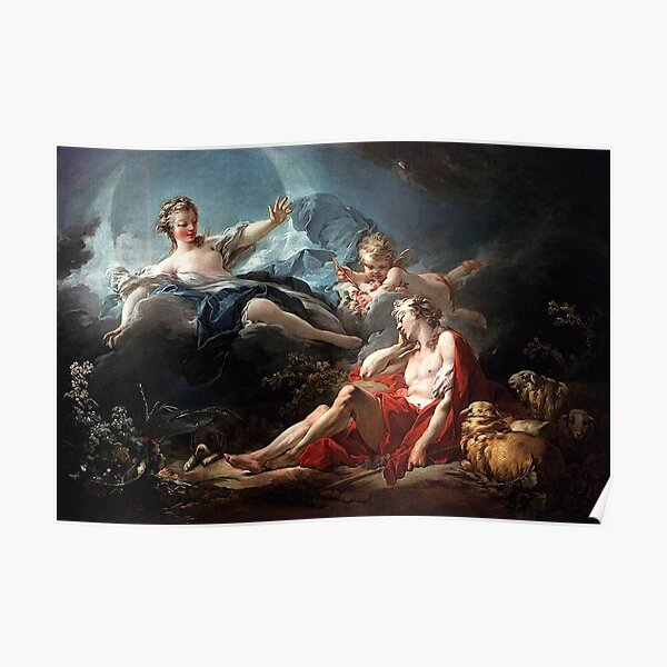 Luca Giordano - Diana and Endymion Poster