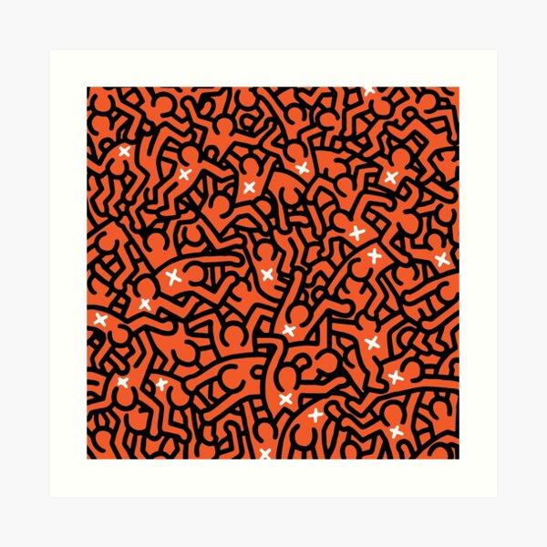 Keith Haring variation 36 Art Print