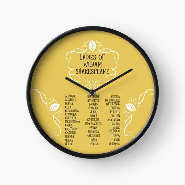 Las damas de William Shakespeare Reloj