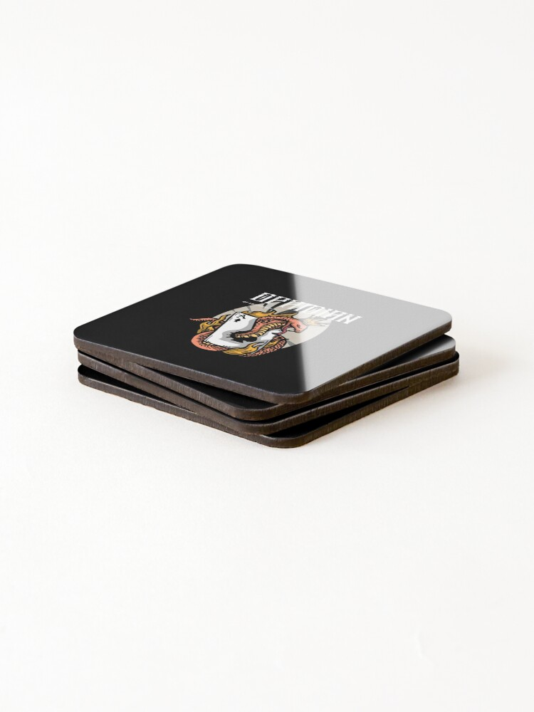 Alternate view of Ophidian Of Ascendancy Holds All The Aces Dark Design Coasters (Set of 4)