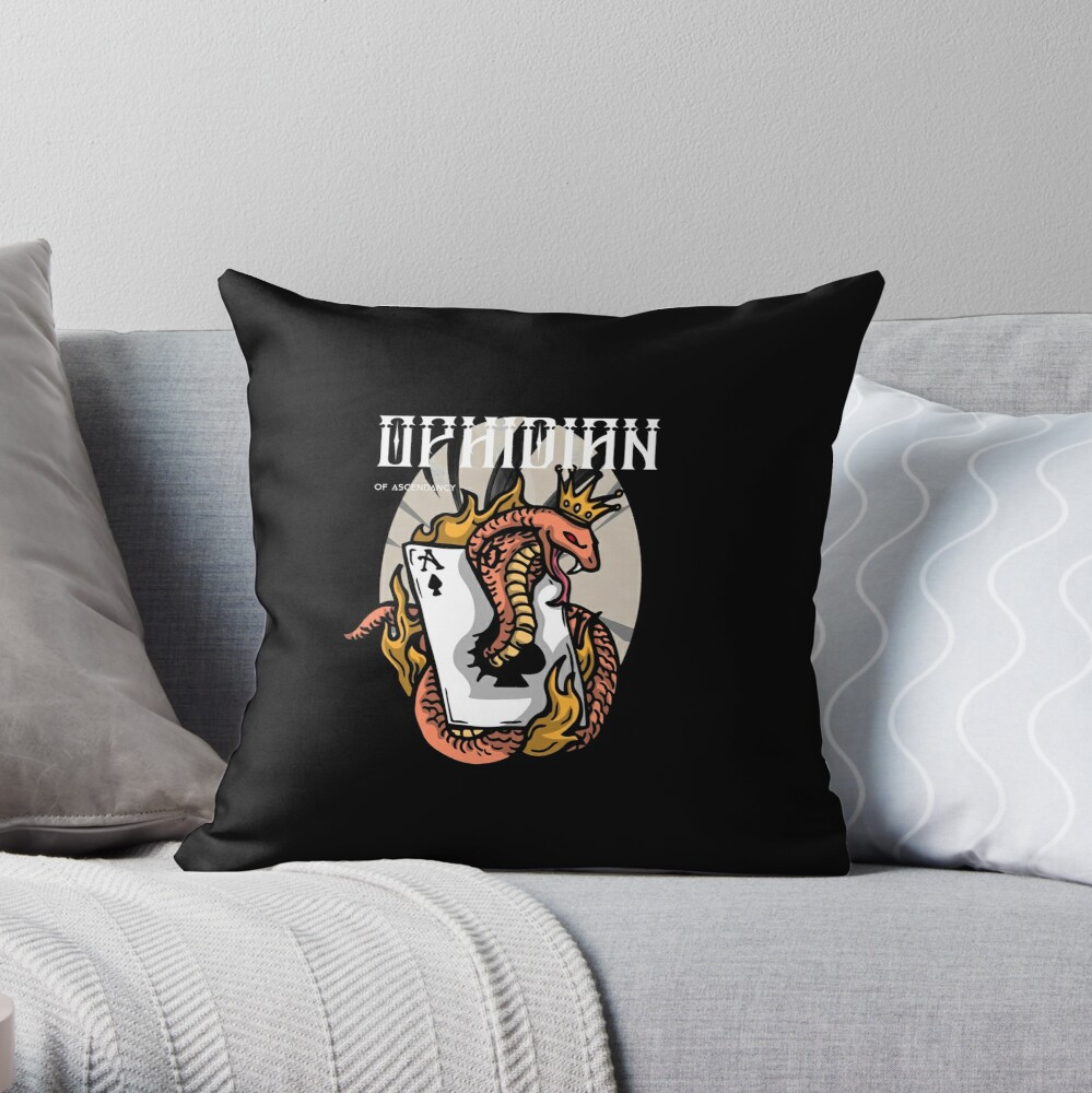 Ophidian Of Ascendancy Holds All The Aces Dark Design Throw Pillow