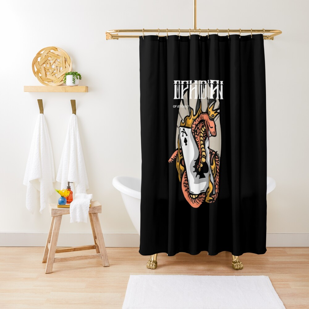 Ophidian Of Ascendancy Holds All The Aces Dark Design Shower Curtain