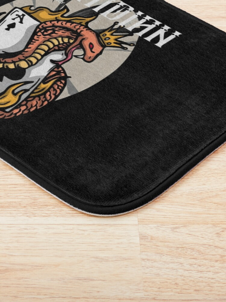 Alternate view of Ophidian Of Ascendancy Holds All The Aces Dark Design Bath Mat