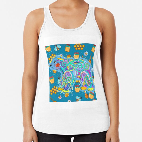Happy Bear Racerback Tank Top