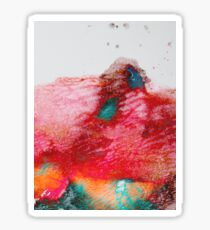 Abstract Painting Red & Gold Sticker