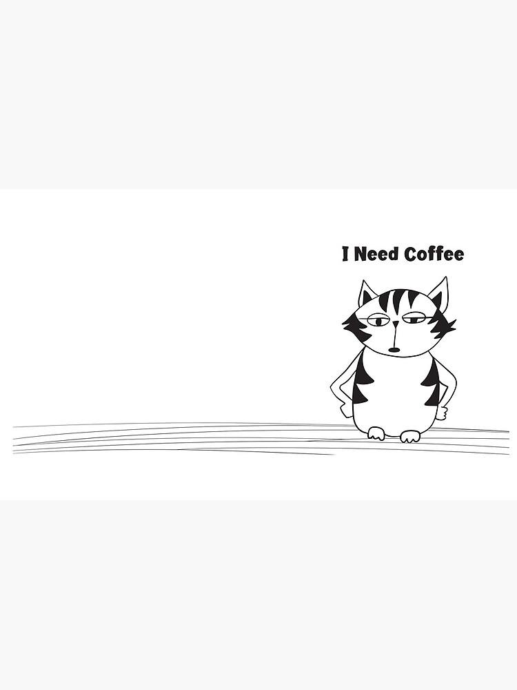 Grumpy Cat coffee mug A Cat who needs more coffee  by KarenBrake