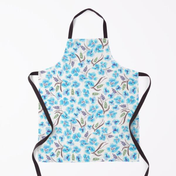 Watercolor floral seamless pattern Apron