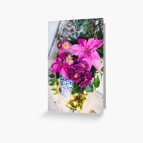 Poinsettia Rose. Carte de vœux
