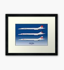 British Airways Concords 1976 to 2003 Framed Print