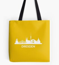 Dresden City Skyline, white Tote Bag