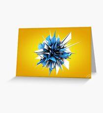 Shard Series 1 - Blue/White Greeting Card