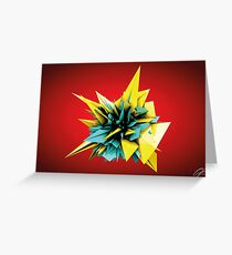 Shard Series 1 - Yellow/Teal Greeting Card