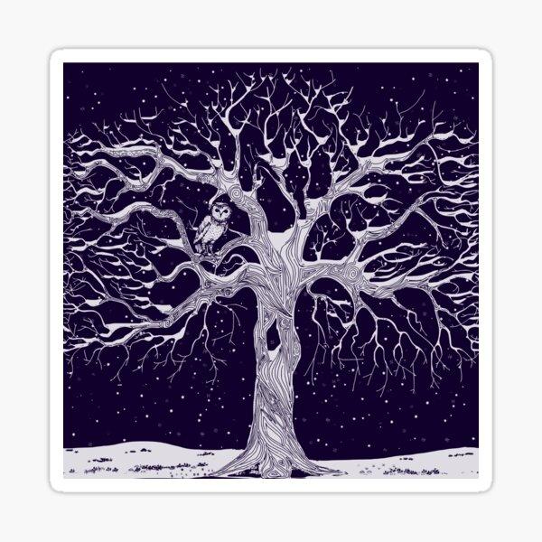 Midwinter (twilight and grey) Sticker