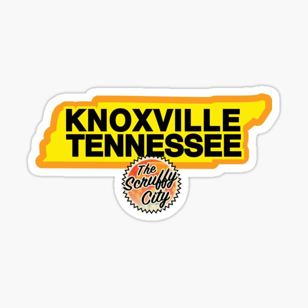Three Rivers Scruffy City, Knoxville Tennessee! Sticker