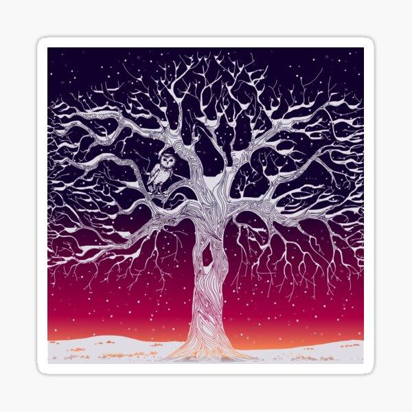 Midwinter (winter sunset) Sticker