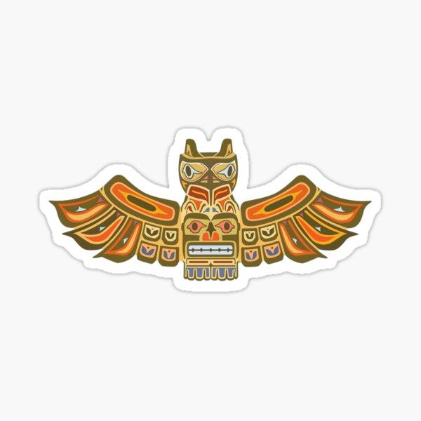 Inuit Flying Eagle Totem Sticker