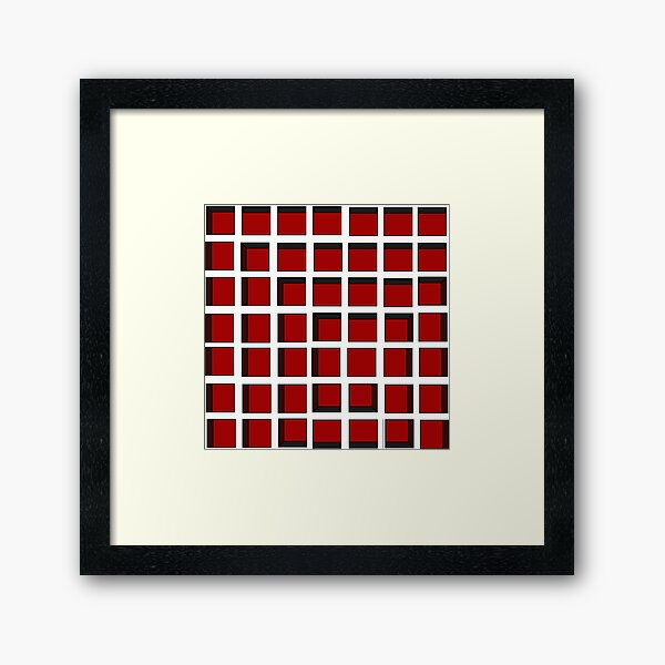 Red Square Spiral Framed Art Print