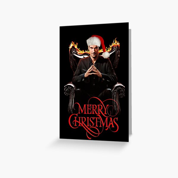 Lucifer Merry Christmas Netflix series Christmas edition Greeting Card