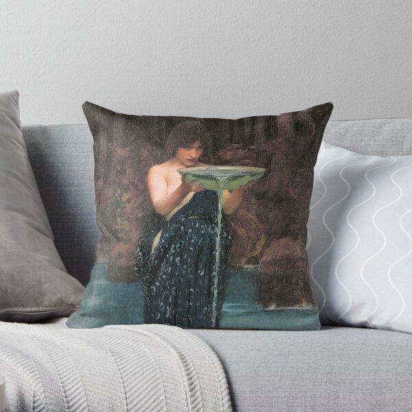 Circe Invidiosa by John William Waterhouse Throw Pillow