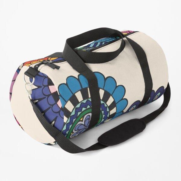 Mandalas On Ivory Duffle Bag