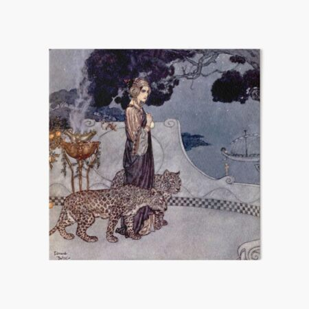 """""""Circe With Leopards"""" by Edmund Dulac Art Board Print"""