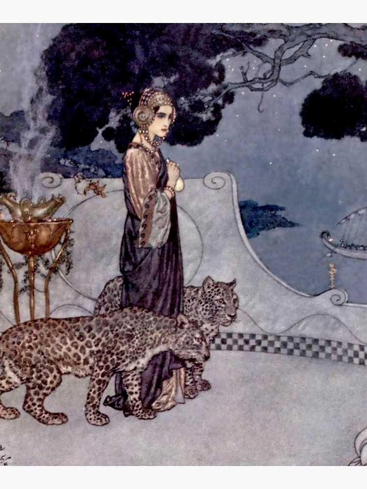 """""""Circe With Leopards"""" by Edmund Dulac by PatricianneK"""