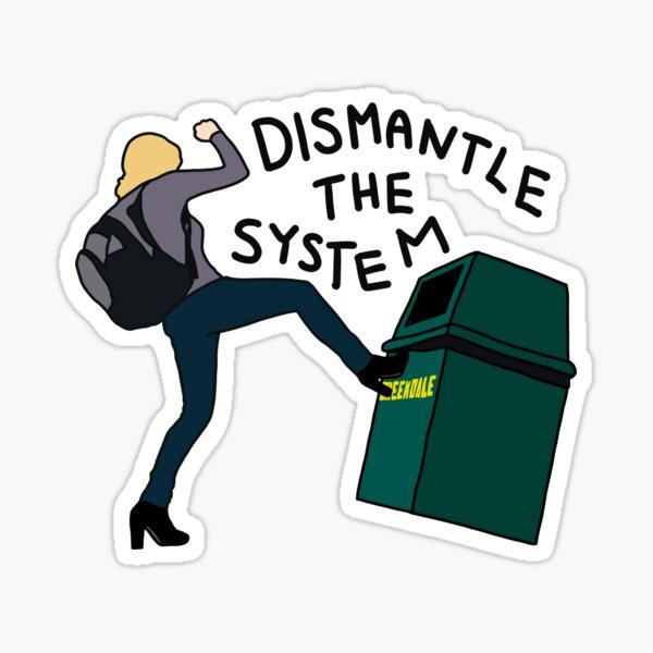 Britta Kicking a Greendale Trash Can Sticker