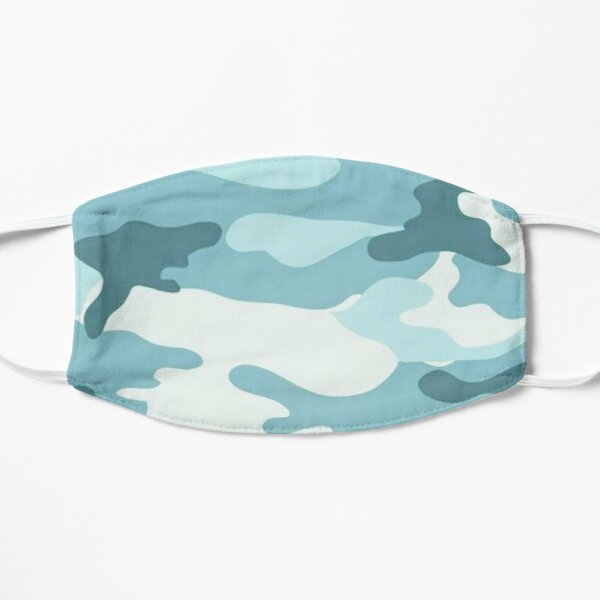 Blue Cyan Camo Mask