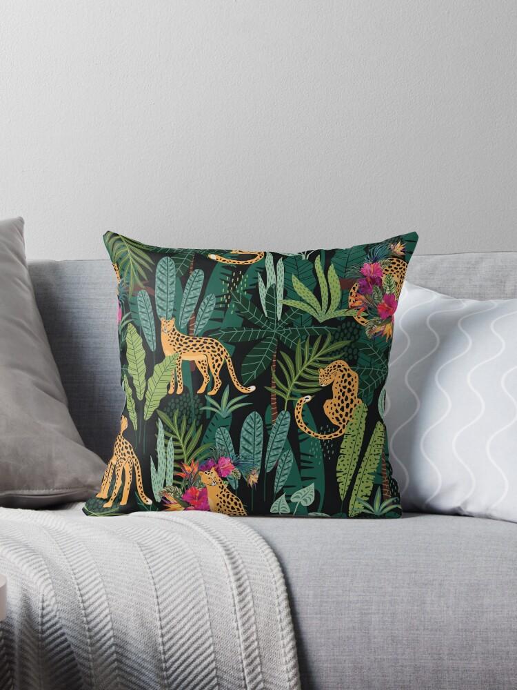 Tropical Cheetah Print Throw Pillow By Tiff918 Redbubble