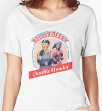 Roller Derby Double Header Women's Relaxed Fit T-Shirt