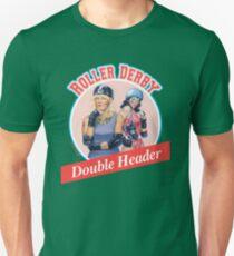 Roller Derby Double Header Unisex T-Shirt