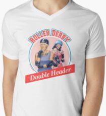 Roller Derby Double Header Mens V-Neck T-Shirt